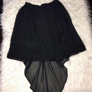 Disney d-signed girls black knee length skirt XL
